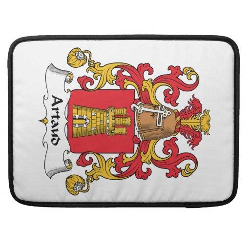 Escudo de la familia de Artaud Fundas Para Macbook Pro