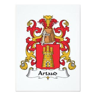 Escudo de la familia de Artaud Invitación 16,5 X 22,2 Cm