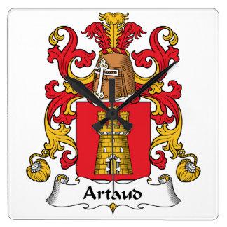 Escudo de la familia de Artaud Reloj Cuadrado