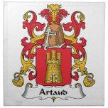 Escudo de la familia de Artaud Servilletas De Papel