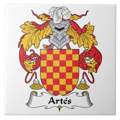 Escudo de la familia de Artes Tejas