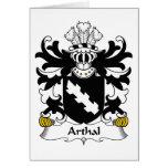 Escudo de la familia de Arthal Tarjetón
