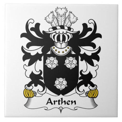 Escudo de la familia de Arthen Azulejo Cuadrado Grande