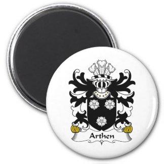 Escudo de la familia de Arthen Imán Redondo 5 Cm