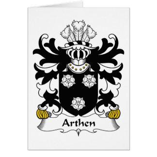 Escudo de la familia de Arthen Tarjeta De Felicitación