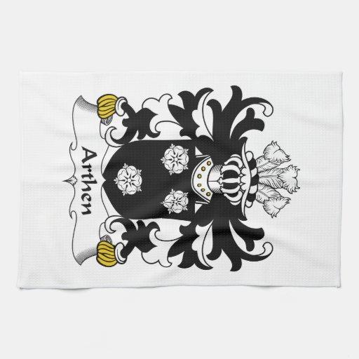 Escudo de la familia de Arthen Toallas De Mano