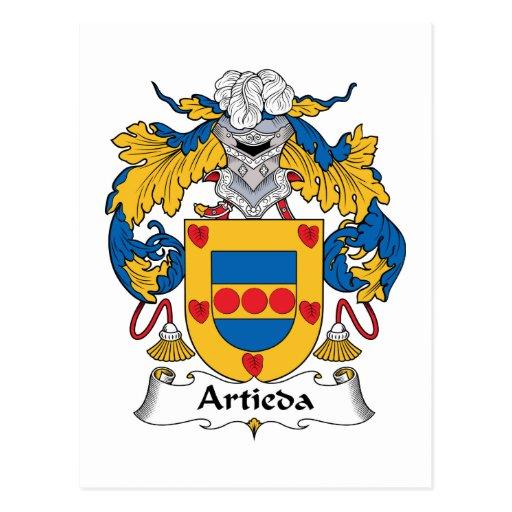 Escudo de la familia de Artieda Tarjeta Postal