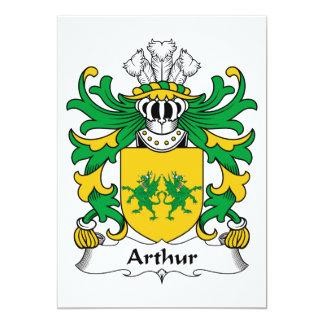 """Escudo de la familia de Arturo Invitación 5"""" X 7"""""""