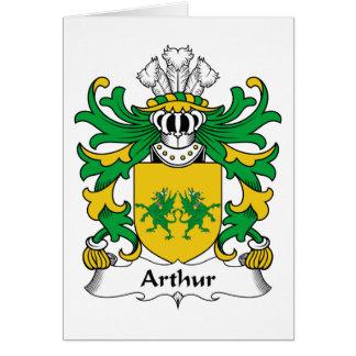 Escudo de la familia de Arturo Tarjeta De Felicitación