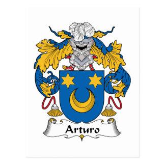 Escudo de la familia de Arturo Tarjeta Postal