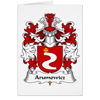 Escudo de la familia de Arumowicz Tarjeta De Felicitación