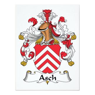 """Escudo de la familia de Asch Invitación 6.5"""" X 8.75"""""""
