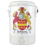 Escudo de la familia de Ashbury Vaso Enfriador Igloo