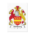 Escudo de la familia de Ashbury Impresión En Lienzo Estirada
