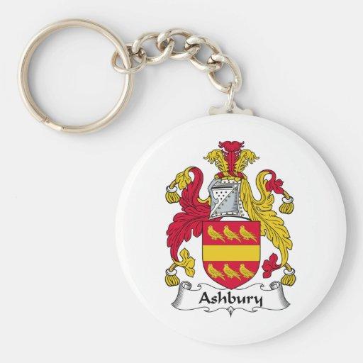 Escudo de la familia de Ashbury Llavero Redondo Tipo Pin