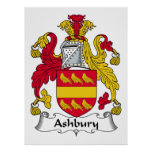Escudo de la familia de Ashbury Posters