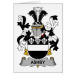 Escudo de la familia de Ashby Felicitación