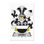 Escudo de la familia de Ashby Lona Estirada Galerias