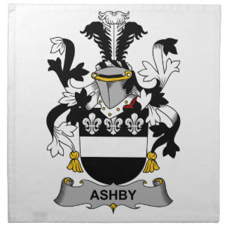 Escudo de la familia de Ashby Servilletas De Papel
