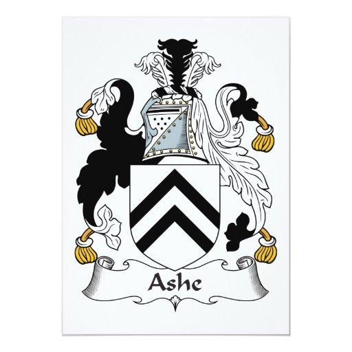 """Escudo de la familia de Ashe Invitación 5"""" X 7"""""""