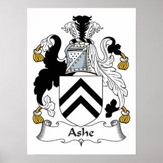 Escudo de la familia de Ashe Poster
