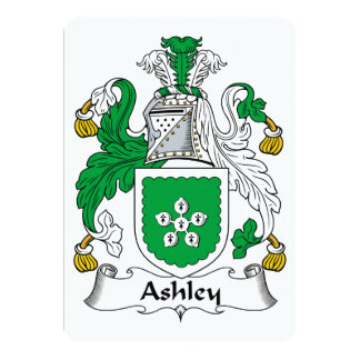 Escudo de la familia de Ashley Invitaciones Personales
