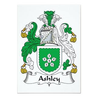 """Escudo de la familia de Ashley Invitación 5"""" X 7"""""""