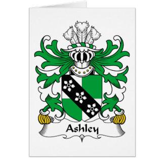 Escudo de la familia de Ashley Tarjetón