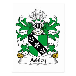 Escudo de la familia de Ashley Tarjetas Postales