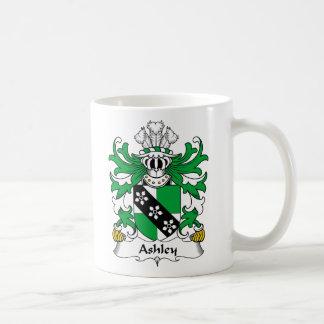 Escudo de la familia de Ashley Taza Básica Blanca