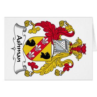 Escudo de la familia de Ashman Tarjeta De Felicitación