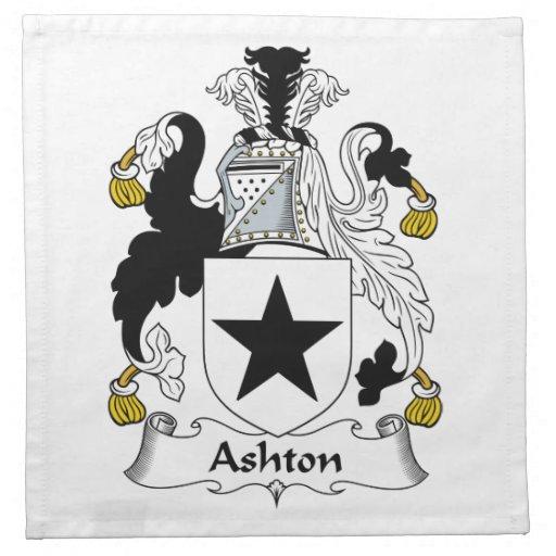Escudo de la familia de Ashton Servilletas Imprimidas