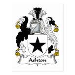 Escudo de la familia de Ashton Tarjeta Postal