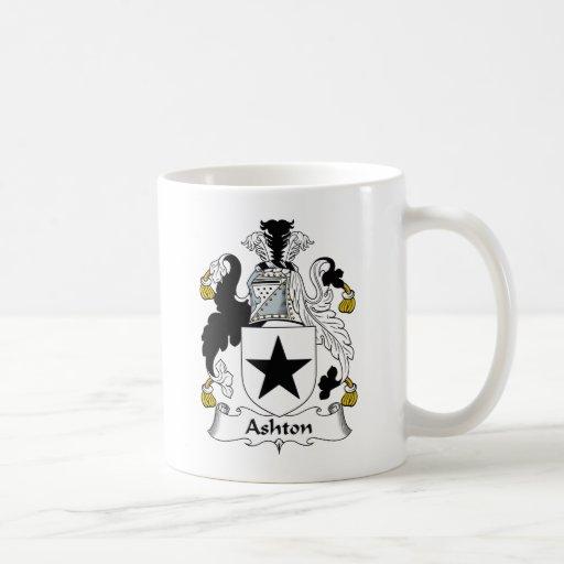 Escudo de la familia de Ashton Tazas De Café
