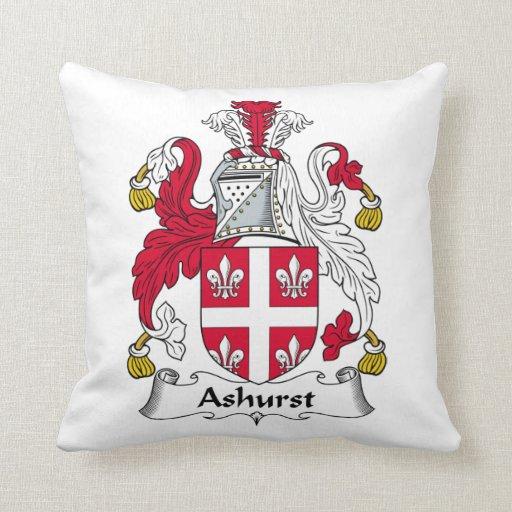 Escudo de la familia de Ashurst Cojines