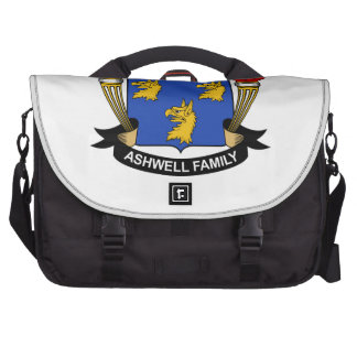 Escudo de la familia de Ashwell Bolsa De Ordenador
