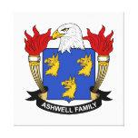 Escudo de la familia de Ashwell Impresión En Lona