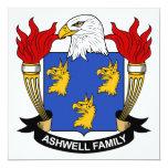 Escudo de la familia de Ashwell Invitación 13,3 Cm X 13,3cm