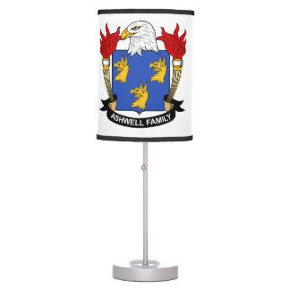 Escudo de la familia de Ashwell Lámpara De Mesilla De Noche