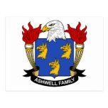 Escudo de la familia de Ashwell Postal