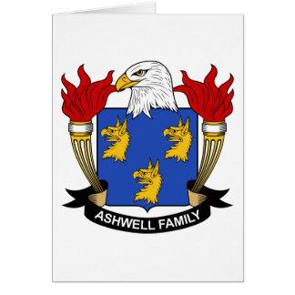 Escudo de la familia de Ashwell Tarjeta De Felicitación