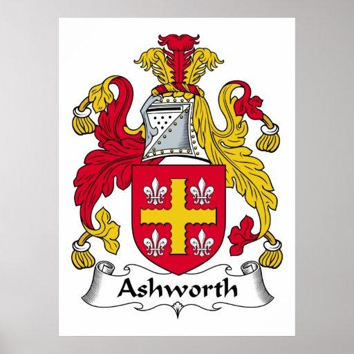 Escudo de la familia de Ashworth Poster