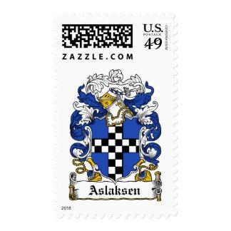 Escudo de la familia de Aslaksen Franqueo