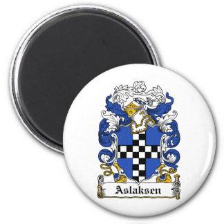 Escudo de la familia de Aslaksen Imanes De Nevera