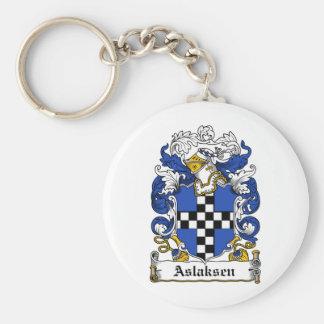 Escudo de la familia de Aslaksen Llavero