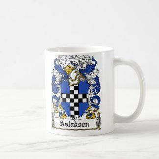 Escudo de la familia de Aslaksen Tazas