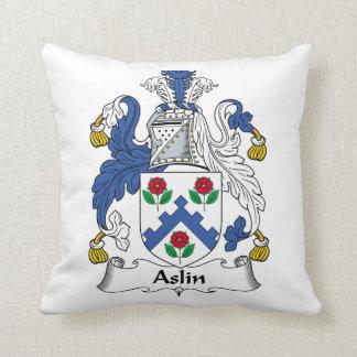 Escudo de la familia de Aslin Cojines