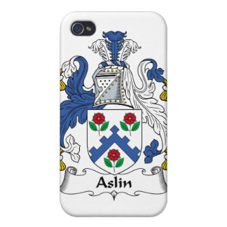 Escudo de la familia de Aslin iPhone 4 Cárcasas