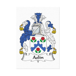 Escudo de la familia de Aslin Lona Envuelta Para Galerias
