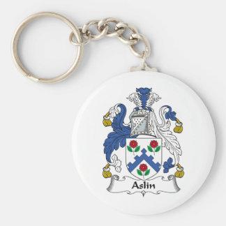 Escudo de la familia de Aslin Llavero Personalizado